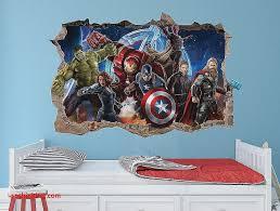 marvel superhero wall decals luxury avengers wall stickers
