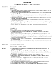 It Analyst Resume Examples IT Analyst Resume Samples Velvet Jobs 10