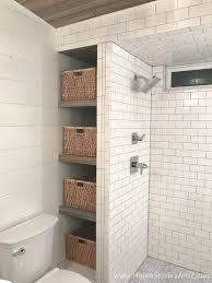 bathroom shelves step 7 add baskets and enjoy