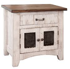 Rustic white furniture Rustic Bedroom San Carlos Imports White Wash Night Stand White Night Stand White Rustic Night Stand