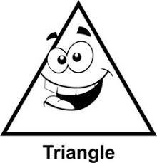 Small Picture triangle coloring page 1 kleuren en vormen Pinterest