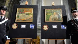 italy 39 s culture ministry unveils two paintings by the french artists paul gauguin