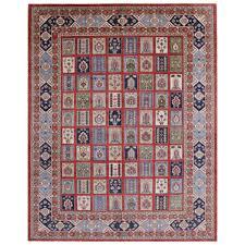 afghan hand knotted vegetable dye kazak wool rug 10 1 x 12 10