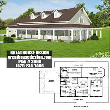 Custom Country Home Designs Country Home Plan With Wrap Around Deck Plan 3660 Toll