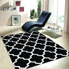 decoration lattice black white modern trellis rug 3