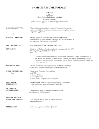 Resume Template Resume Address Format Free Career Resume Template