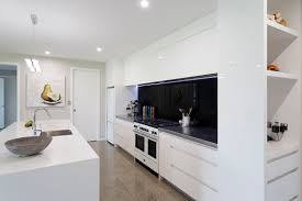 handleless white kitchen cupboards