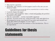 thesis statement for critical analysis paper acirc crafting the thesis statement for critical analysis paper