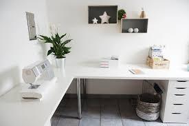 minimalist corner desk setup ikea linnmon top with adils legs and ale drawer