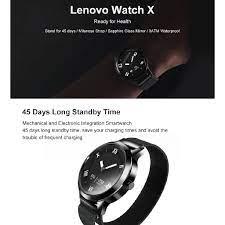 Bộ đồng hồ đeo tay thông minh Lenovo Watch X/X+ chống thấm nước kèm sạc từ  tính