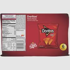 doritos nacho cheese flavored tortilla chips 100 count 10 oz bags