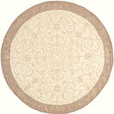 momeni 7 ft 9 in round beige gabby area rug at com