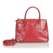 prada vintage saffiano galleria satchel bag red leather handbag luxury high quality avvenice