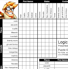 Math Logic Puzzle Worksheets Worksheets for all | Download and ...