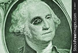 One Dollar Bill-Washington With Black Eye - Free Stock Images ...