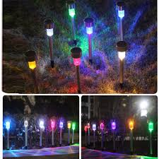 Red Solar Pathway Lights Us 24 47 28 Off 10pcs Lot Outdoor Stainless Steel Solar Power Rgb White Red Blue Led Garden Landscape Path Pathway Lights Lawn Lamp In Solar Lamps