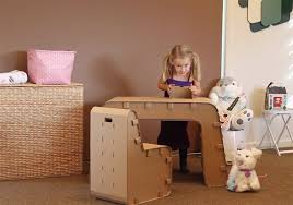 diy cardboard furniture. kids can design their work space with the cardboard guysu0027 desk and chair inhabitots diy furniture
