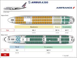 Air France A380 800 Seat Chart Airbus A380 Cabin Configuration Airbus A380 Airplane