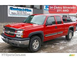 2004 Chevrolet Silverado 1500 Z71 Extended Cab 4x4 in Victory Red ...