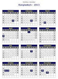 printable year calendar 2013 bangladesh 2013 printable holiday calendar printable hub