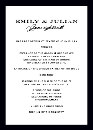 sample wedding ceremony program wedding programs match your colors style free basic invite