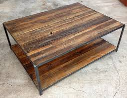 rustic wood and metal coffee table appealing teak rectangle classic wood wood and metal coffee table