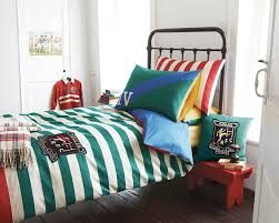 rugby stripe bedding white bed