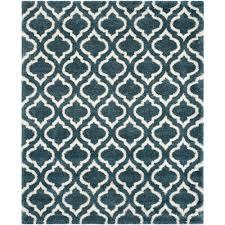 safavieh hudson slate blue ivory 8 ft x 10 ft area rug