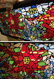 picture of mosaic glass light