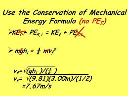 use the conservation of mechanical energy formula no