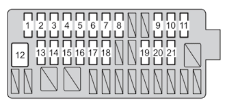 autogenius info 2005 Toyota Corolla Fuse Box Location toyota yaris hatchback mk3 fuse box instrument panel