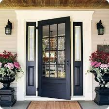 black glass front door 3 4 entry fiberglass you do