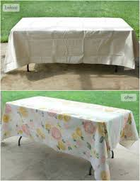diy painted fl table cloth