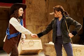 review cyrano de bergerac at southwark playhouse exeunt magazine ellie kendrick and kathryn hunter in cyrano de bergerac at southwark playhouse photo richard