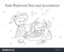 Kids Bathroom Sets Accessories Kids Health Stock Vector 323864267 ...