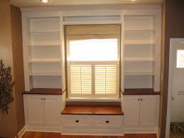 built in wall units around windows round designs