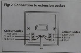telephone extension cable wiring diagram within uk