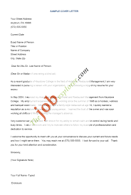 Example Of Job Cover Letter For Resume Free Resume Templates