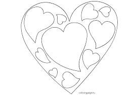 Coloring Hearts Coloring Hearts Coloring Pages Printable Roses And