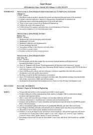 Mechanical Engineer Intern Resume Samples Velvet Jobs