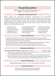 customer service resume objective summary resume career overview example
