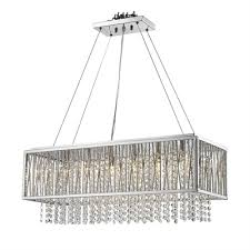 bethel international ys579 6p 1 6 light ys series large rectangular crystal pendant