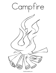 Small Picture Campfire Coloring Page Twisty Noodle