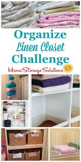 here are step by step instructions for how to organize your linen closet including organizing
