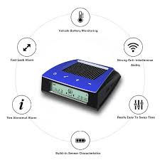 CARCHET RV Trailer Car <b>Solar TPMS Tire Pressure</b> Monitoring ...