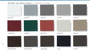 Sheffield Color Chart Metal Roof Colors Energy Efficient Roof Coat Hiram Ga