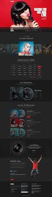 Music Website Templates Delectable Radio Templates Website Templates