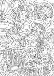 Calyspo Coloring Card Waves Disegni Rilassanti Disegni Da