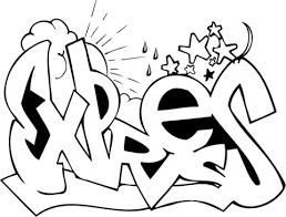 Expres Graffiti Kleurplaat Gratis Kleurplaten Printen