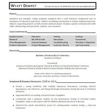 Chemistry Resume Sample Resume Entry Level Chemist Danayaus 15